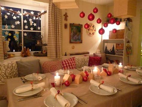 einfache weihnachtstisch dekorationen meine gr 252 ne wiese der heilige abend weihnachten