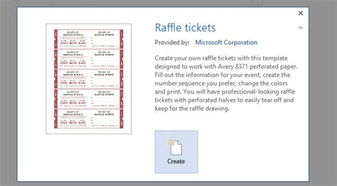 How To Get A Free Raffle Ticket Template For Microsoft Word Raffle Ticket Template Word