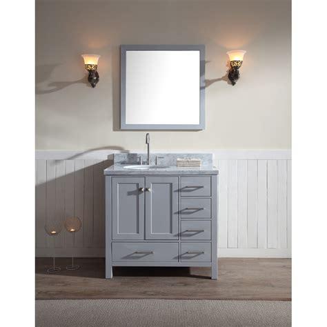 left bathroom vanity ariel cambridge 37 quot single vanity set with left