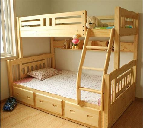 Childrens Wooden Bunk Beds The Cheapest Wood Bed Children S Bunk Beds Bunk Bed Combination Picture Height In Some Areas