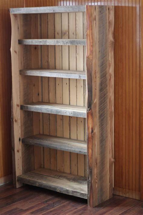 custom  reclaimed wood bookcase shelving reclaimed