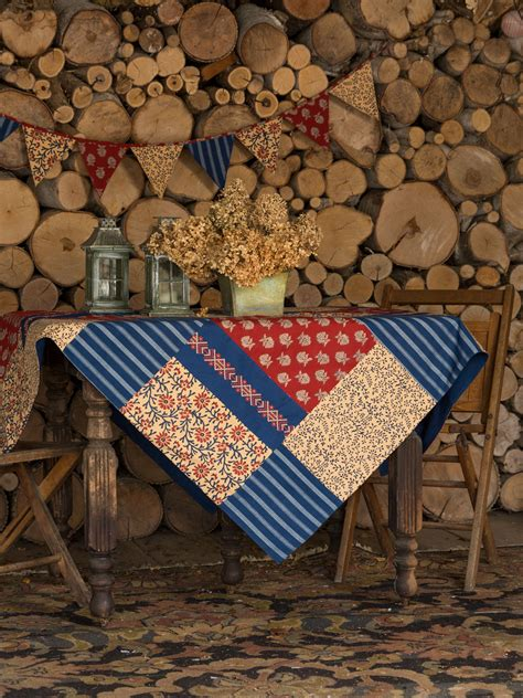 Patchwork Tablecloth - flea market patchwork tablecloth linens kitchen
