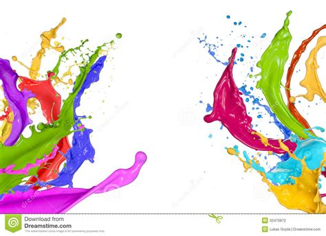 paint colorful colorful paint splashing stock photo image of artistic