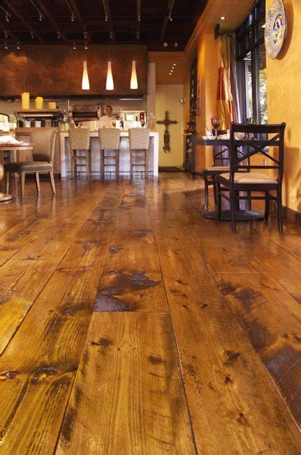 Distressed Pine Flooring Sets the Backdrop for Italian