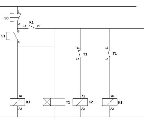 rangkaian kontraktor delta wiring diagram tutorial