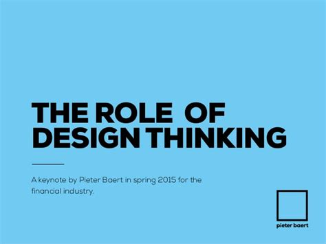 design thinking slideshare the role of design thinking