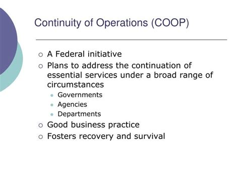 continuity of operations plan template ppt emergency response continuity of operations