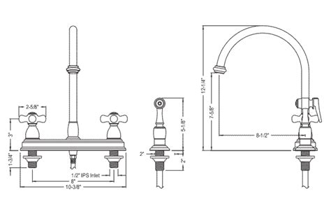 kitchen faucet sizes gooseneck kitchen faucets