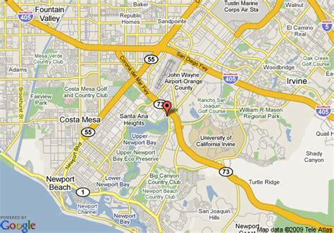 map newport california map of marriott newport bayview newport