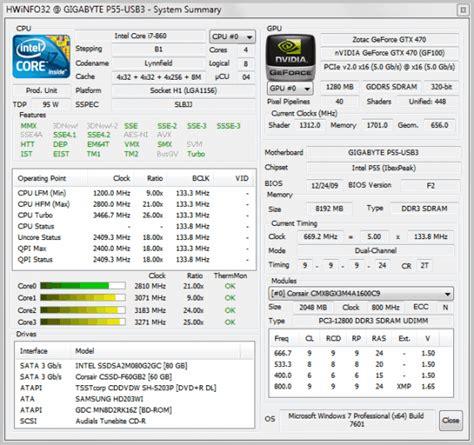 Cpu Info by Hwinfo32 Computer Hardware Information Software Ghacks