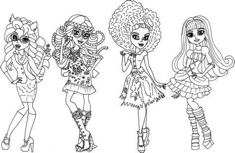 monster high coloring pages all characters printable free printable monster high coloring pages december 2013