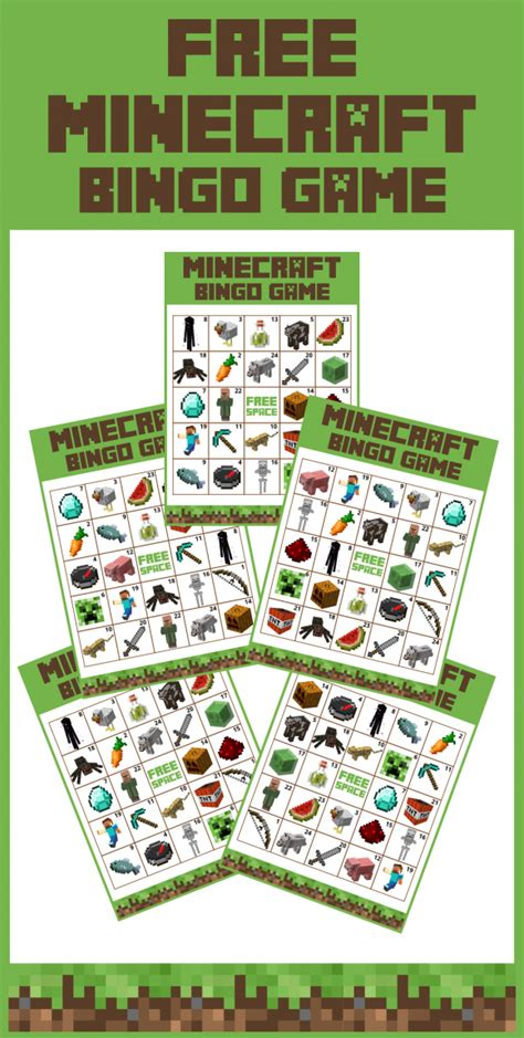 printable minecraft quiz free printable minecraft bingo game birthdays party