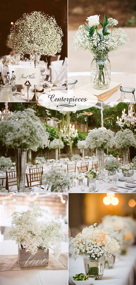 wedding centerpieces ideas not using flowers wedding flowers 40 ideas to use baby s breath