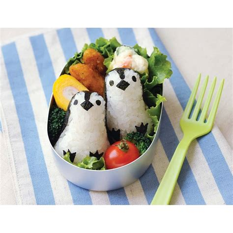 Cetakan Nasi Rice Mold Bento 3 In 1 Hello Bunny 10458 baby 3d penguin bento rice mold and seaweed nori cutter set for e