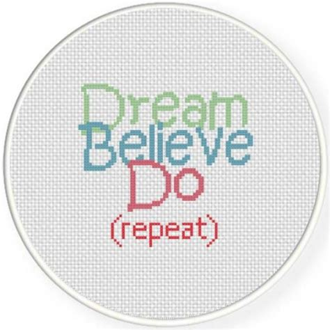 repeat pattern quotes dream believe do repeat cross stitch pattern daily cross