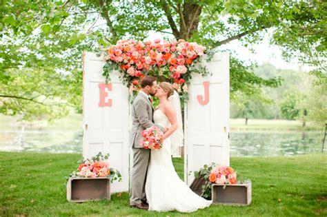coral and orange wedding vibrant coral orange and pink wedding mon cheri bridals