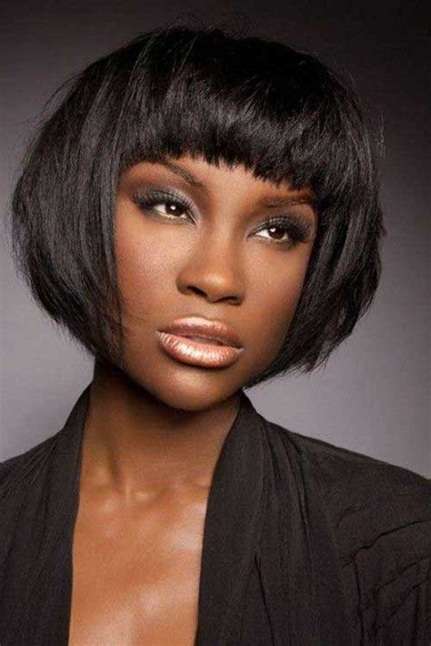 layered hairstyles with bangs for african americans that hairs thinning out short hairstyles with bangs for black women short