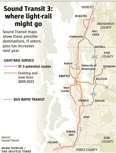 seattle light rail schedule sound transit planning heats up for light rail expansion
