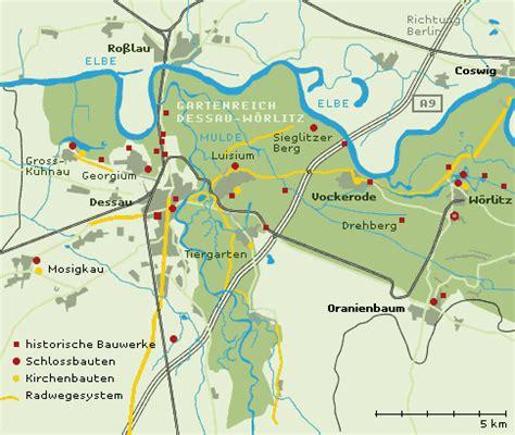 dessau map general map the garden kingdom of dessau w 246 rlitz