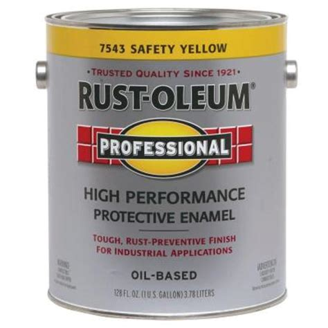 home depot safety yellow paint rust oleum professional 1 gallon safety yellow paint