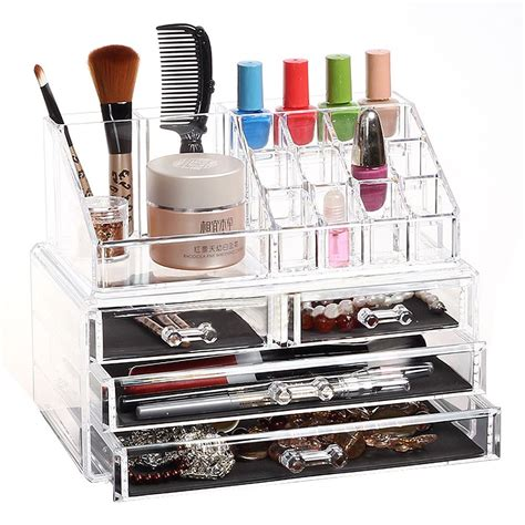 Clear Acrylic Makeup Storage Drawers by Clear Acrylic Makeup Cosmetics Jewelry Organiser 4 Drawers