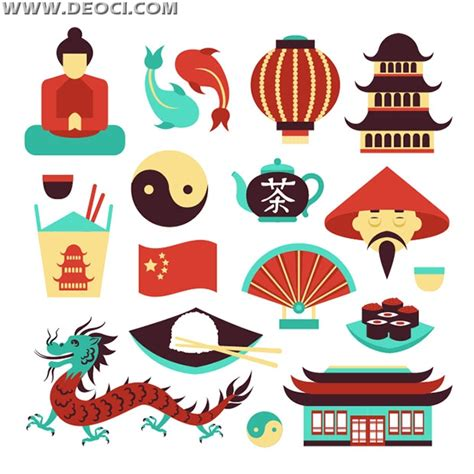 chinese design elements vector chinese retro illustration element eps file to download