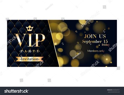 vip card template vip premium invitation cards posters stock vector