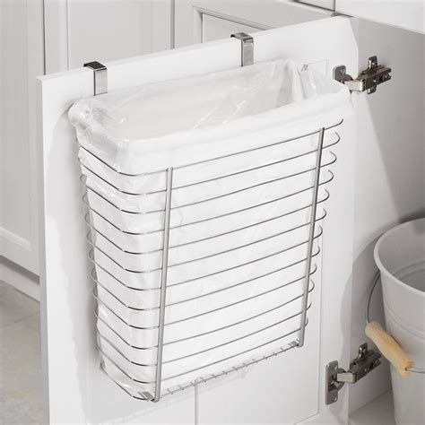 Cabinet Wastebasket by Axis Chrome Cabinet Wastebasket In Cabinet Trash Cans