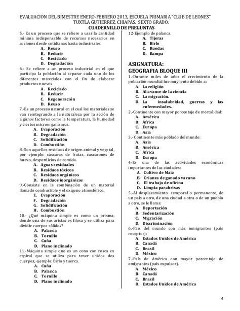 examen quinto grado 2016 examen bloque 3 sexto grado 2016 examen bloque 4 para 3