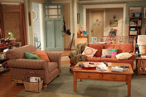 sitcom sets on set with cbs s mom hgtv
