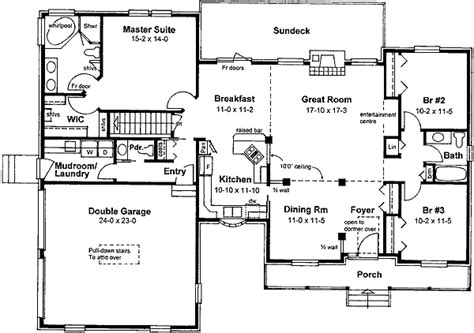traditional farmhouse floor plans traditional farmhouse ranch 6712mg 1st floor master