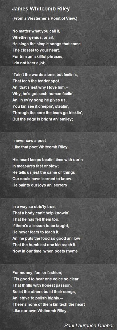 james whitcomb riley poem  paul laurence dunbar poem hunter