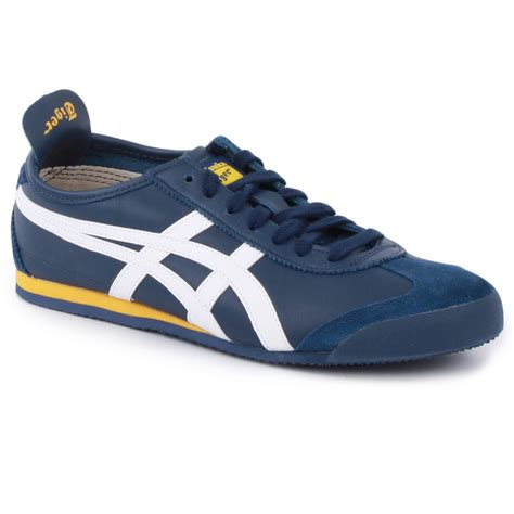 Onitsuka Tiger Mexico 66 Black Navy Bnib onitsuka tiger mexico 66 mens trainers in navy white
