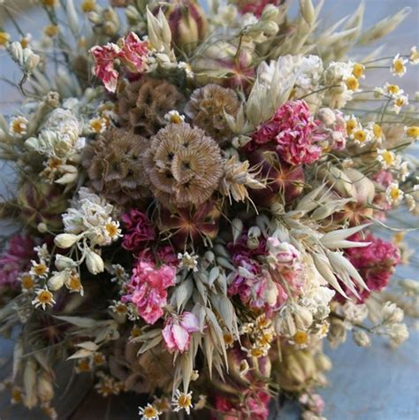 Dried Flowers by Country Dried Flower Wedding Bouquet By The Artisan Dried