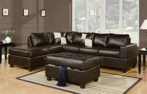 sacramento espresso leather sectional sofa with left