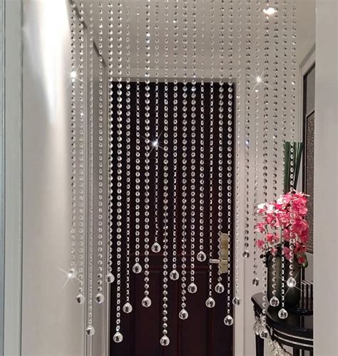 2016 new pure handmade clear crystal bead curtain home decoration windows porch partition door