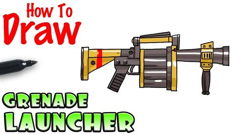 fortnite launcher how to draw the grenade launcher fortnite