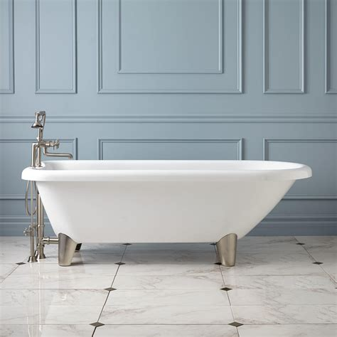 bathtub with feet 70 quot hoyt acrylic clawfoot tub modern feet bathroom