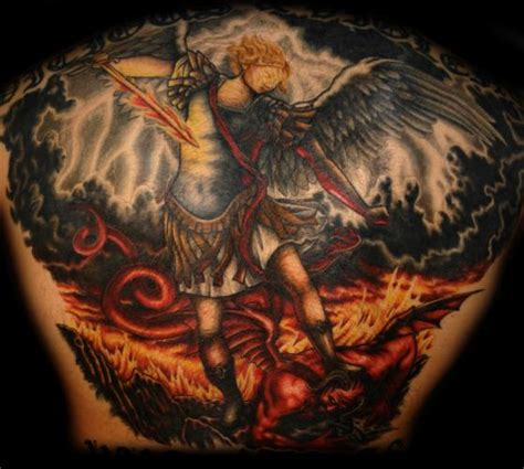 arch angel tattoo archangel tattoos lawas