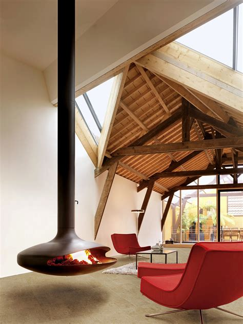 hanging fireplaces modern mid century modern hanging fireplace retro interior design
