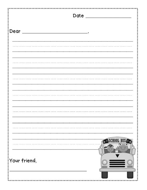 friendly letter writing freebie levelized templates