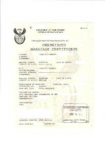 South African Birth Certificate Template Marriage Certificate Template Images