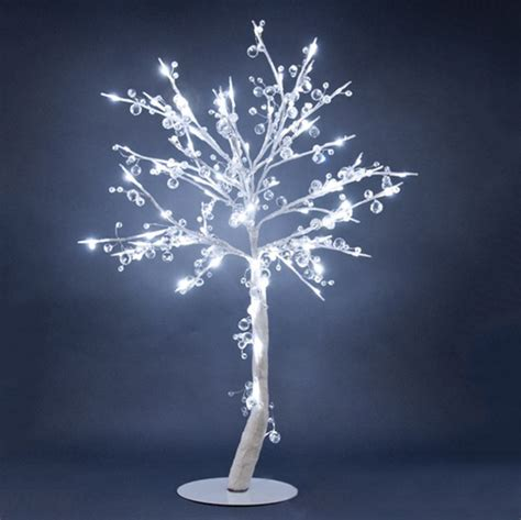 Hi Line Gift Floral Lights Lighted Crystal Tree With 96 Led Lighted Tree