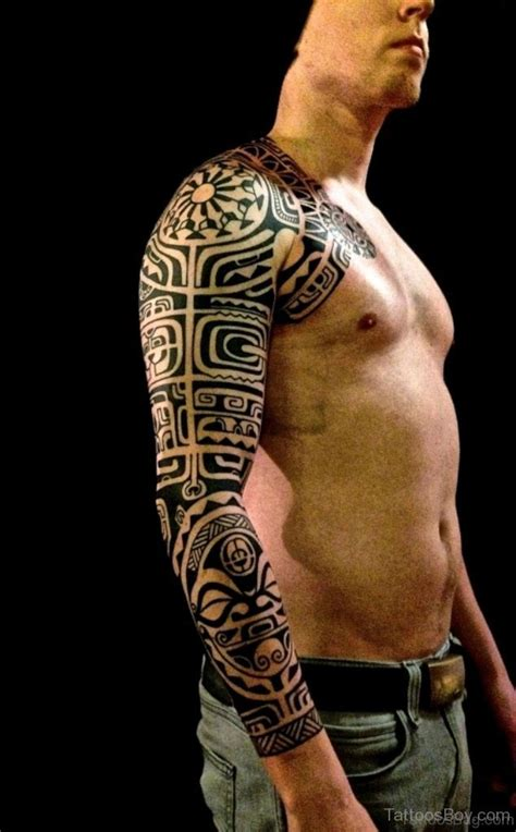 tribal tattoos full sleeve 53 graceful tribal tattoos on sleeve
