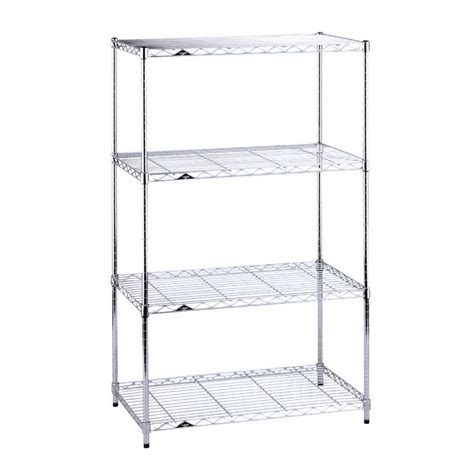 intermetro four shelf unit chrome in intermetro shelving