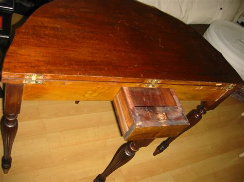 folding card table sale sheraton mahogany semicircular inlaid folding card table