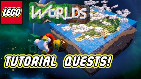tutorial lego worlds lego worlds tutorial quests gameplay youtube