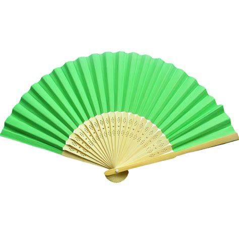 Paper Folding Fans - cheap green paper folding fans wedding favors for