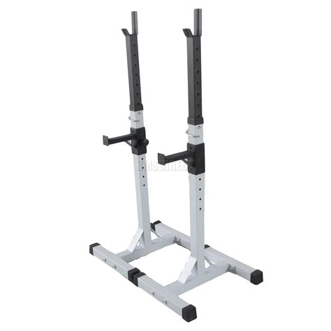 benching in the squat rack heavy duty adjustable gym squat barbell power rack stand weight bench support ebay