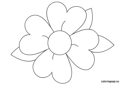 Flower Color Sheet by Flower Coloring Sheets For Color Bros